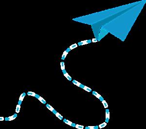 avion de papel vector