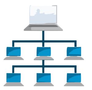 vector de ordenadores en redes