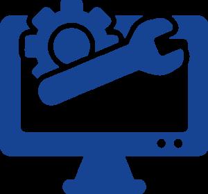 vector azul ordenador herramientos